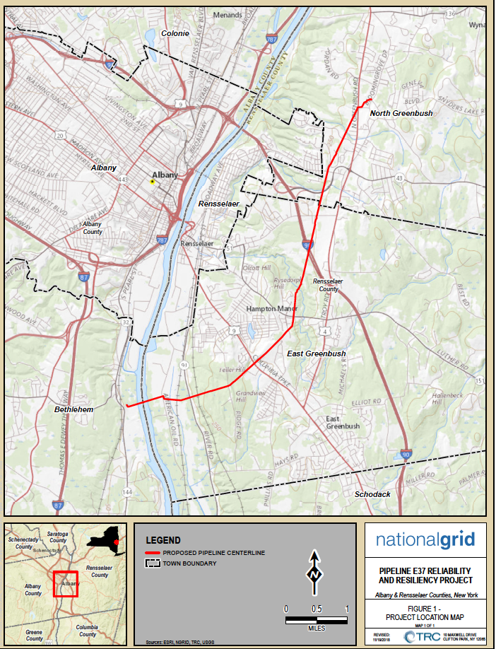 Map of proposed pipeline